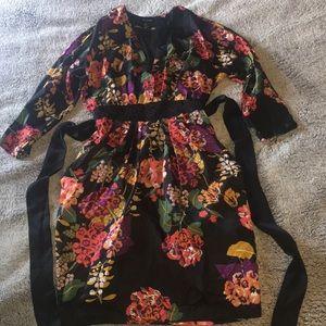 Faux Kimono Dress